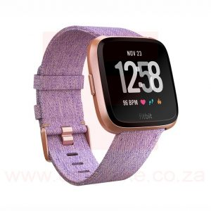 Fitbit Versa Special Edition Lavender Woven Wristwatch